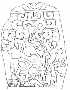 Drawing of the Stela